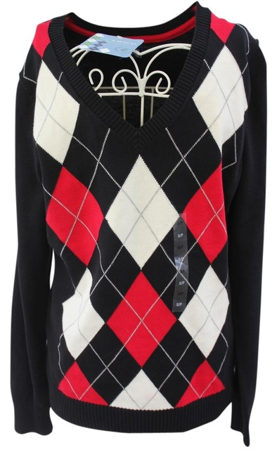 Preload https://item1.tradesy.com/images/izod-black-v-neck-cotton-sweater-new-with-tags-cardigan-size-petite-4-s-984660-0-0.jpg?width=400&height=650