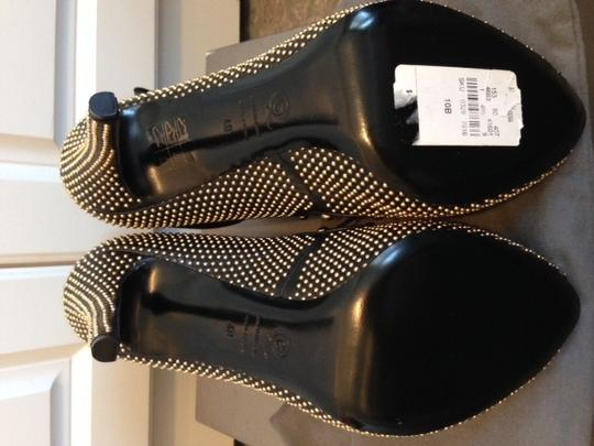 Alexander McQueen Lace Up Studded Lace Buckle Strap Laceup Peep Toe Buckle Starp Suede Leather Size 40 40 9.5 10 Pumps Heels Metal Black and Gold studs Boots