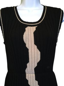 Chanel Wool Sleeveless Pleated Dress