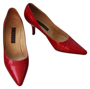 Casadei Vintage Red Pumps