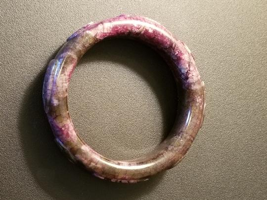 Unknown Chunky Carved Jade Bangle