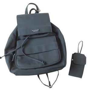 Kenneth Cole Reaction Logo Polyester Drawstring Hidden Snap Close Zipper Backpack