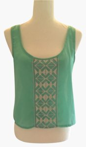 Rue 21 Top Sea green & ivory