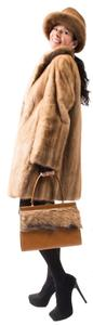 MINK FUR COAT SET Hat Bag Hat Fur Coat