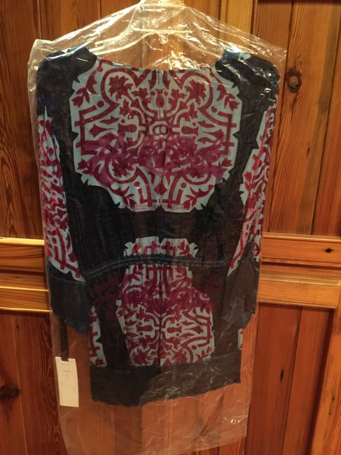 Hale Bob Silk Beaded Red New With Tags Tunic