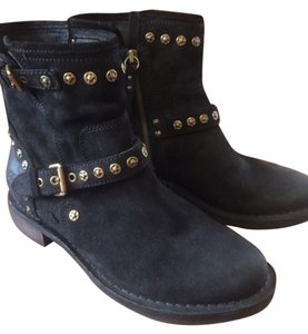 UGG Australia Leather Black Suede Boots