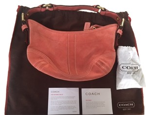 Coach Suede Leather Soho Hobo Bag