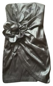 Jessica McClintock short dress Silver on Tradesy