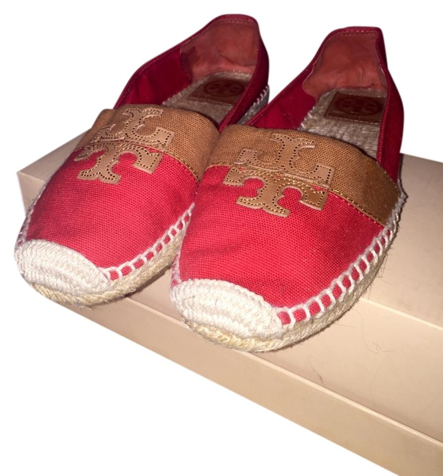 Ladies Flats Tory Burch Red Espadrille Flats Ladies Not so expensive 2e0ac9