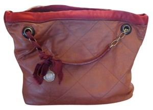 Lanvin Extra Large Satchel in Burgundy