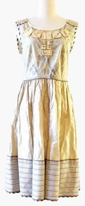 Alberta Ferretti short dress cream on Tradesy