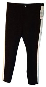 INC International Concepts Skinny Pants Black and cream