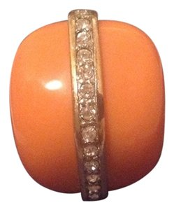 Kenneth Jay Lane KENNETH JAY LANE ORANGE NUGGET SWAROVSKI CRYSTAL RING
