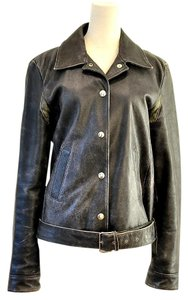 Miu Miu black Leather Jacket