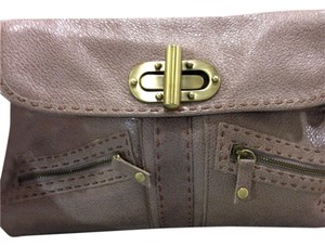Carla Mancini Leather Clutch Handbag Chain Shoulder Bag