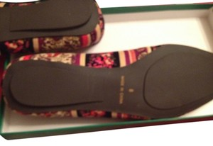 Tracy Porter Paisley Print Cotton Corduroy Uppers Paisley flower Flats