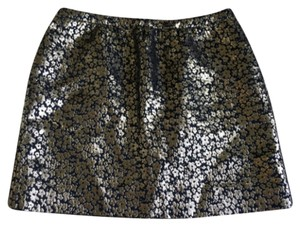 J.Crew Mini Skirt Gold and black