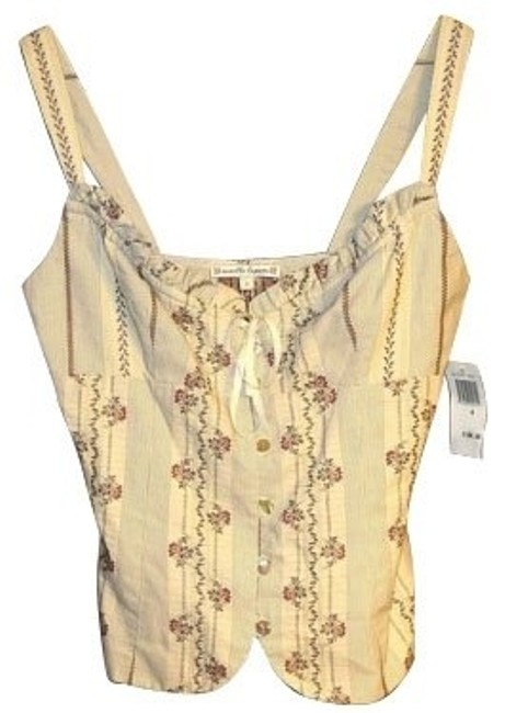 Nanette Lepore Top Beige with flowers