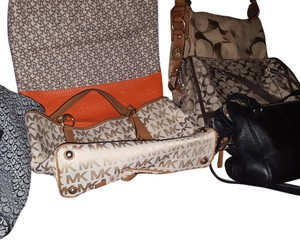 1 Michael Kors one coach and one dk Monogram Tote in Logo