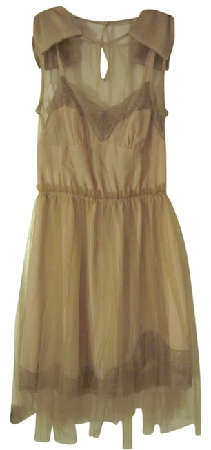Item - Blush Nude Above Knee Night Out Dress Size 0 (XS)