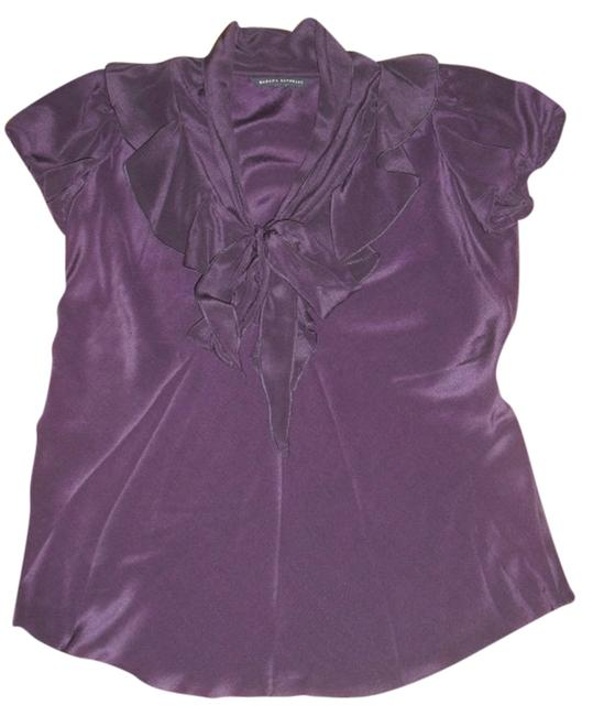 Banana Republic Silk Bow Top Purple