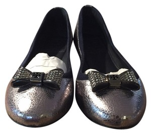 Tory Burch Pewter/Bright Navy 035 Flats