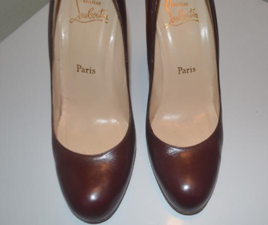 Christian Louboutin Leather Oxford red brownish Platforms