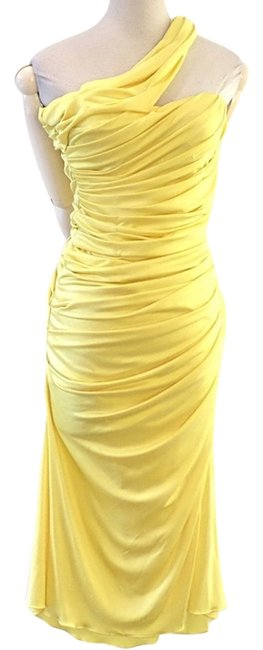 Preload https://img-static.tradesy.com/item/9850924/blumarine-yellow-fitted-jersey-knee-length-cocktail-dress-size-4-s-0-1-650-650.jpg