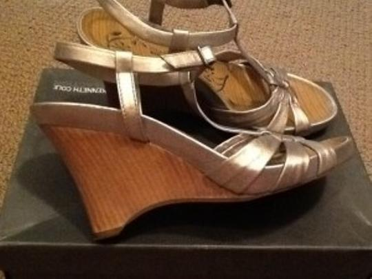 Kenneth Cole Metallic Silver Wedges