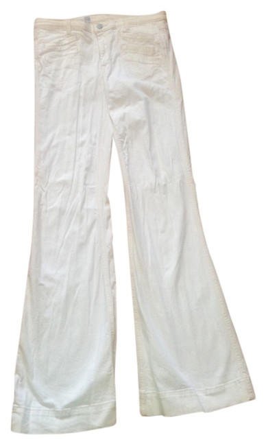 Item - White Light Wash Trouser/Wide Leg Jeans Size 27 (4, S)