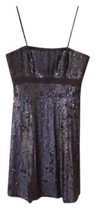 Badgley Mischka Sequin Strapless Dress