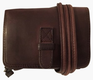 Eddie Bauer Leather Belt Wallet Travel Cross Body Bag
