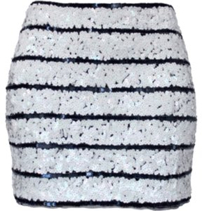 Gryphon Mini Skirt White & Navy Blue