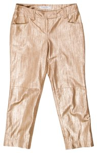 Dior Gold Leather Christian Pants