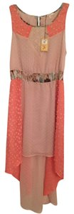 Mystree short dress Pink/Salmon High-low Hi-low Maxi Pink on Tradesy