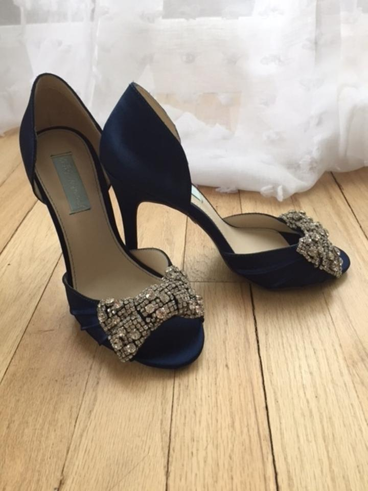 Betsey Johnson Navy Blue By Gown Pumps Size US 7 Regular (M, B ...