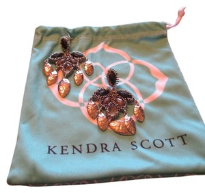Kendra Scott Silver Toned Earrings with Black and Gun Metal Stones by Kendra Scott
