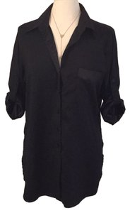 Ellen Tracy Button Down Shirt Blac