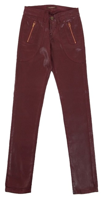 Item - Sienna An Oxblood Shade Coated Trixie In Sold Out Skinny Jeans Size 29 (6, M)