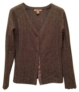 Todd and Duncan Cashmere V-neck Ribbed Cardigan