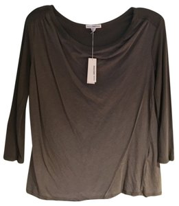James Perse Cowl Neck T Shirt Spruce green