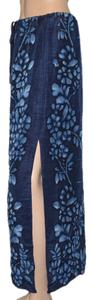 Dana Buchman Skirt Blue / light blue flower pattern