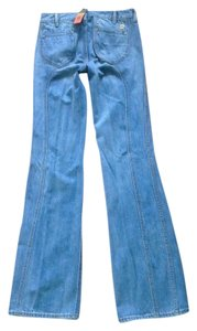 Tory Burch Straight Leg Jeans-Light Wash