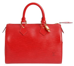 Louis Vuitton Epi Canvas Speedy 25 Speedy Classic Pre Owned Like New Boston Satchel in Red
