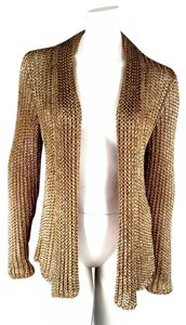 Ralph Lauren Collection Metallic Mesh Armor Knit Cardigan
