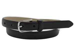 Banana Republic Belt Fashion Banana Republic Women Thin Classic Narrow Black Faux Leather