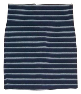 Forever 21 Striped Mini Party Mini Skirt Blue/grey