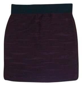 Forever 21 Mini Textured Party Mini Skirt dark red