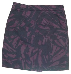 Forever 21 Mini Print Mini Skirt navy/purple