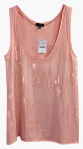J.Crew Sequin Scoop Neckline Cotton Top Pink